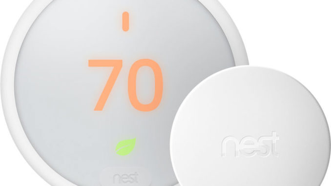 Nest Temperature Sensor (right) pictured with Nest Thermostat E. Image: Nest.
