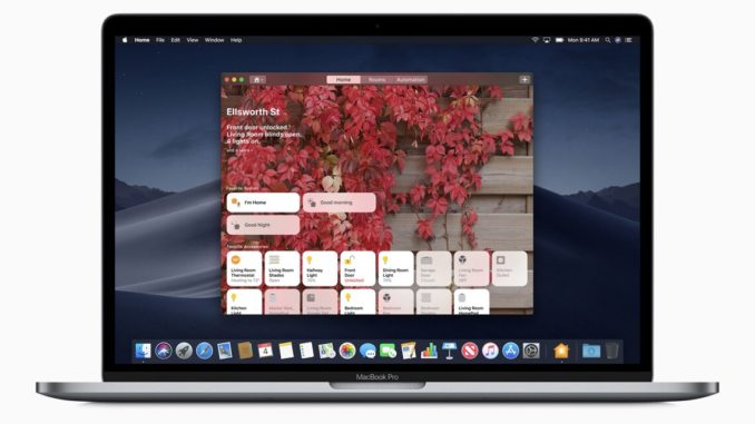 With the Fall 2018 release of macOS Mojave, the Apple Home app comes to the Mac desktop for the first time. Image: Apple.