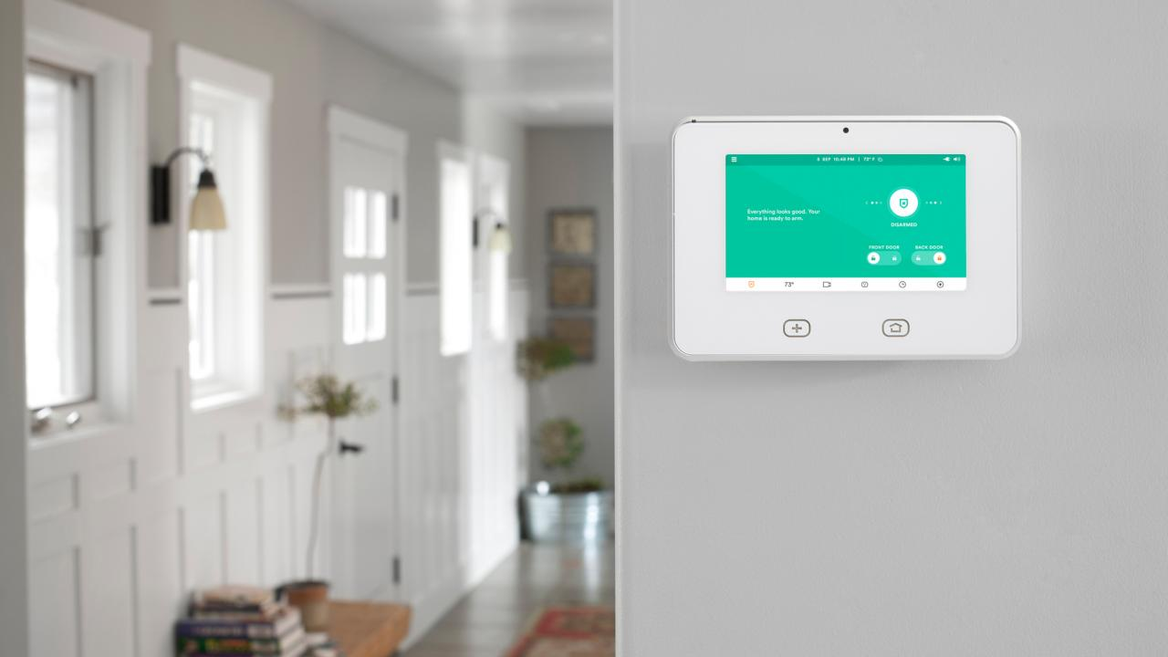 Central home automation control systems can take the form of smartphone apps or dedicated wall-mounted panels. In this Vivint-equipped home, the company's SkyControl Panel integrates multiple safety, security, and convenience features. Image: Vivint.