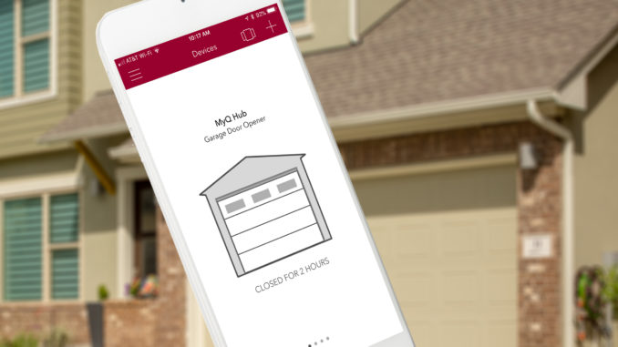 Do you know if your garage door is open or closed right now? The new generation of smart garage door opener controllers can let you check via your smartphone. Image: Digitized House Media.